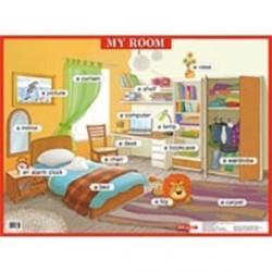 Моя комната. My room. Наглядное пособие на английском языке