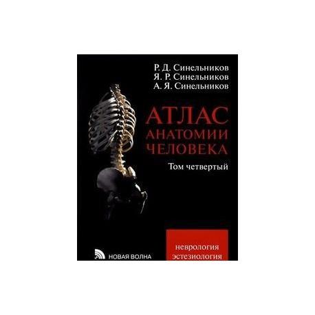 Атлас анатомии человека. В 4-х томах. Том 4. Учение о нервной системе и органах чувств