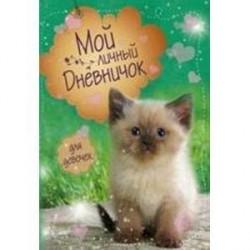 Мой личный дневничок. Котик на зеленой обложке