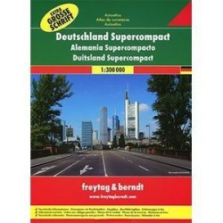 Германия. Суперкомпактный атлас автодорог / Germany: Supercompact Road Atlas