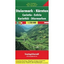 Styria, Carinthia: Road and Leisure Map