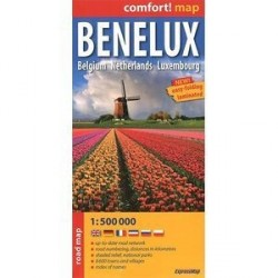 Бенелюкс / Benelux: Belgium: Netherlands: Luxembourg: Road Map