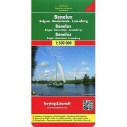 Бенелюкс (Бельгия, Нидерланды, Люксембург. Карта / Benelux. Belgien. Niederlande. Luxemburg: Autokarte