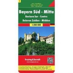 Бавария южная, центральная часть / Bavaria South, Middle: Road and Leisure Map