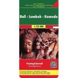 Бали-Ломбок-Комодо / Bali - Lombok - Komodo: Autokarte Карта