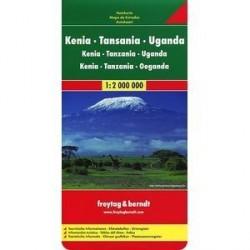 Кения-Танзания-Уганда, Карта