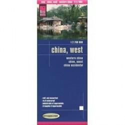Китай. запад. Карта. China, West