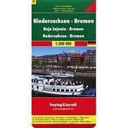 Саксония нижняя и Бремен. Карта 1:200 000