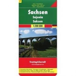 Саксония. Карта. Saxony. Sachsen 1:200 000
