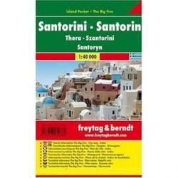 Санторини. Карта-покет + большая пятерка