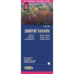 Канада центральная.Карта.Central Canada