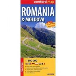 Румыния. Молдова. Ламинированная карта