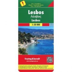 Лесбос. Карта. Lesbos