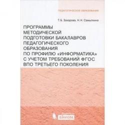 Программы методической подготовки бакалавров педагогического образования по профилю 'Информатика'