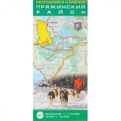 Карелия. Пряжинский район 1:110 000