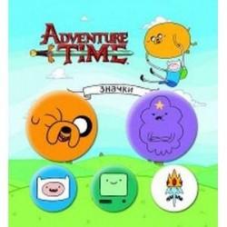 Набор значков Adventure time. Вселенная друзей