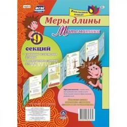 Плакат раскладной Меры длины. Математика из 9 секций