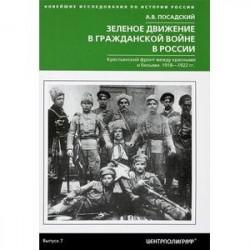 Зеленое движение в гражданской войне России в России. Крестьянский фронт между красными и белыми