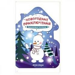 Новогодние приключения: книжка-раскраска.