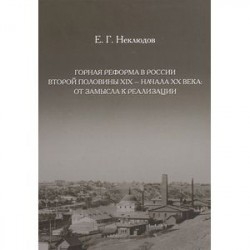 Горная реформа в России вторая половина XIX — начало XX века. От замысла к реализации