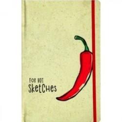 Скетчбук 'Красный перец', А5,