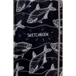 Скетчбук 'Белые рыбы', А5