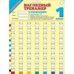 Математика. 1 класс. Сложение в пределах 10