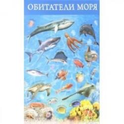 Плакат 'Обитатели моря' (3410)