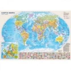 Настольная карта 'Мир и Россия', двусторонняя