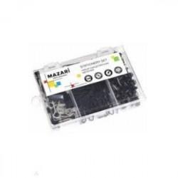 Набор канцелярских мелочей (скрепки, кнопки канцелярские силовые, зажимы) (M-6875)