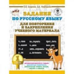 Русский язык. 1 класс. Задания для повторения