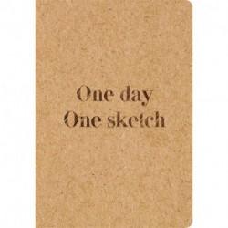 Скетчбук.One day, one sketch (обложка крафт) (Арте)