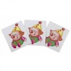 Счетный материал. Набор из 20 карточек. Игрушки (клоун, мишутка)