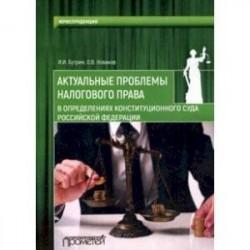 Актуальные проблемы налогового права в определениях Конституционного Суда Российской Федерации