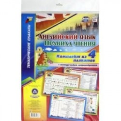 Комплект плакатов 'Английский язык. Правила чтения'. 4 плаката с методическим сопровождением. ФГОС