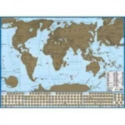 Карта мира с флагами, со стираемым слоем