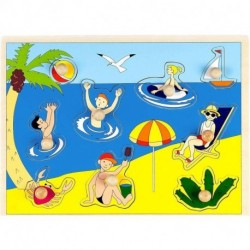 Рамка-пазл 'На пляже'