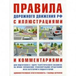 Правила дорожного движения с иллюстрациями и комментариями. Административная ответственность водителей. Таблица штрафов