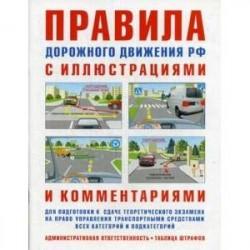 Правила дорожного движения РФ с иллюстрациями и комментариями. Административная ответственность. Таблица штрафов.