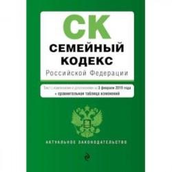 Семейный кодекс Российской Федерации. Текст с изменениями и дополнениями на 3 февраля 2019 года (+ сравнительная