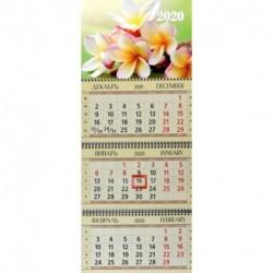 Календарь квартальный на 2020 год 'Райский цветок'