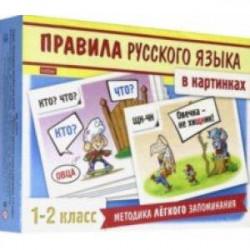 Правила русского языка в картинках. 1-2 классы. 24 карточки