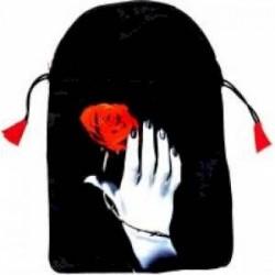 Мешочек 'Роза в руке' для карт таро (шелкография)