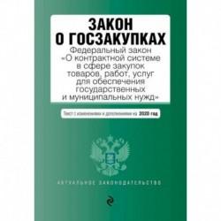 Закон о госзакупках: Федеральный закон 'О контрактной системе в сфере закупок товаров, работ, услуг для обеспечения