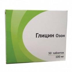 Глицин Озон, 50 табл. по 100 мг