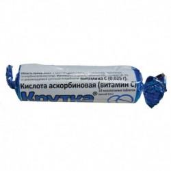 Аскорбиновая кислота 'Крутка', 10 шт