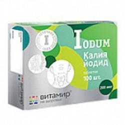 Калия йодид 100 таб. по 200 мг