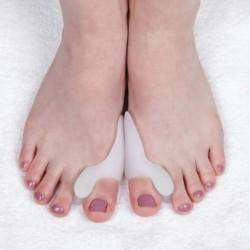Защитные накладки на косточку большого пальца, силиконовые, с разделителем на 2 пальца, пара, цвет белый