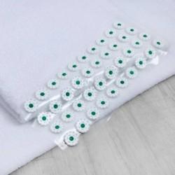 Аппликатор - коврик, 14x32 см, 28 модулей, цвет белый/зелёный