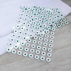Аппликатор - коврик, 50x75 см, 384 модуля, цвет белый/зелёный